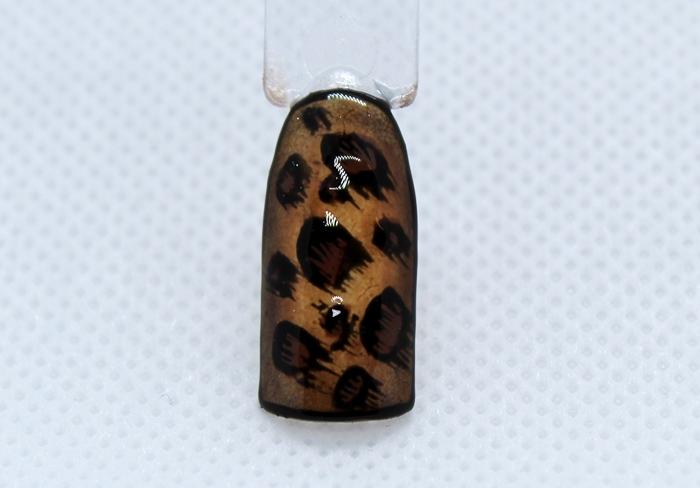 Модный леопардовый маникюр пошагово