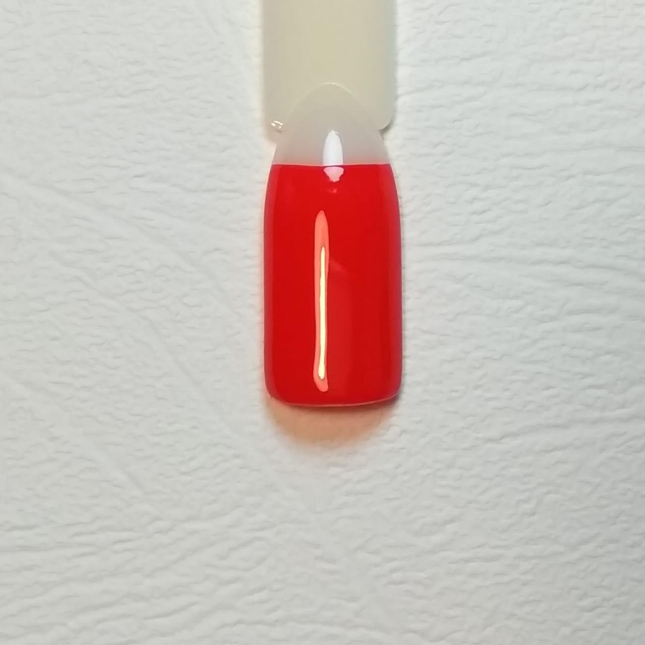 красный маникюр с сердечком: пошаговое фото