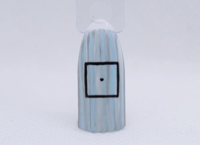 Серо-голубой маникюр: пошаговые фото