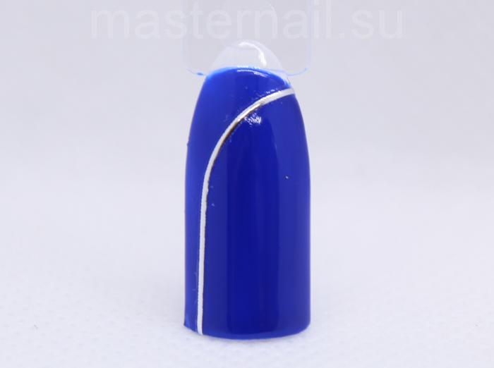 Синий матовый маникюр: пошаговое фото