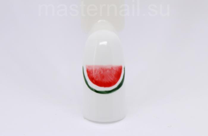 Как сделать белый маникюр с арбузом для коротких ногтей: фото пошагово