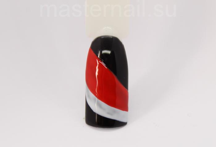 Матовый маникюр с арбузом на черном фоне: пошаговое фото