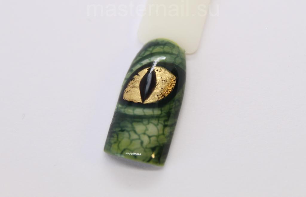 Маникюр с глазами дракона: фото