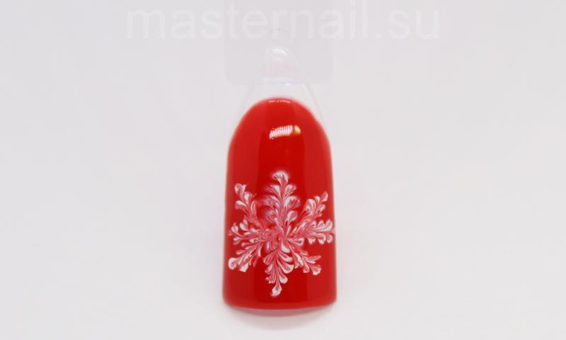 Красный маникюр со снежинками: пошаговая инструкция с фото