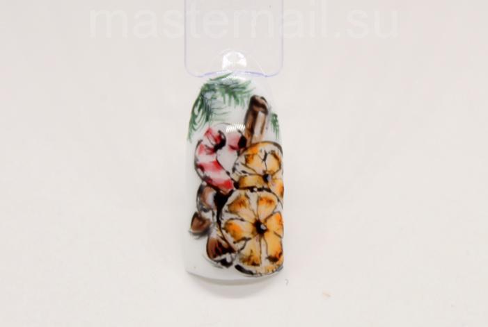 Зимние рисунки на ногтях: пошаговое фото